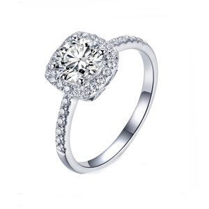 Jewelry - 1.25 CTW Sterling Silver Engagement Ring